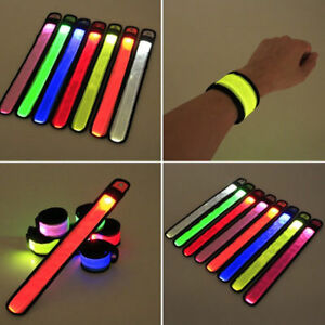 LED Luminescence Arm Band Wrist Strap Safety Reflective Belt Outdoor Supplies