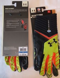 UNDER ARMOUR HIGHLIGHT FOOTBALL GLOVES MEN S X-LARGE NFL COMBINE ... 14865aac6959a