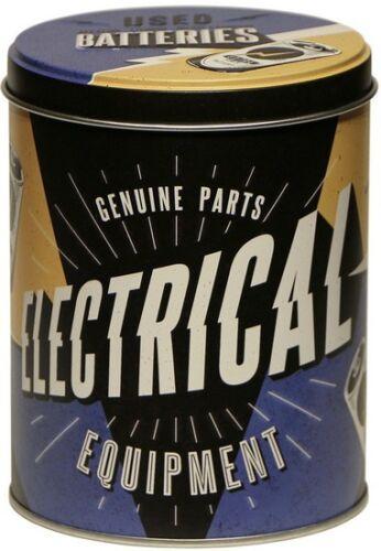 Nostalgische ELECTRICAL EQUIPMENT Vorratsdose Blechdose Küchendose Dose DORU01