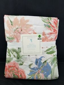 Twin Size Duvet Cover...Pottery Barn Kids...Red w//White Floral...100/% Cotton