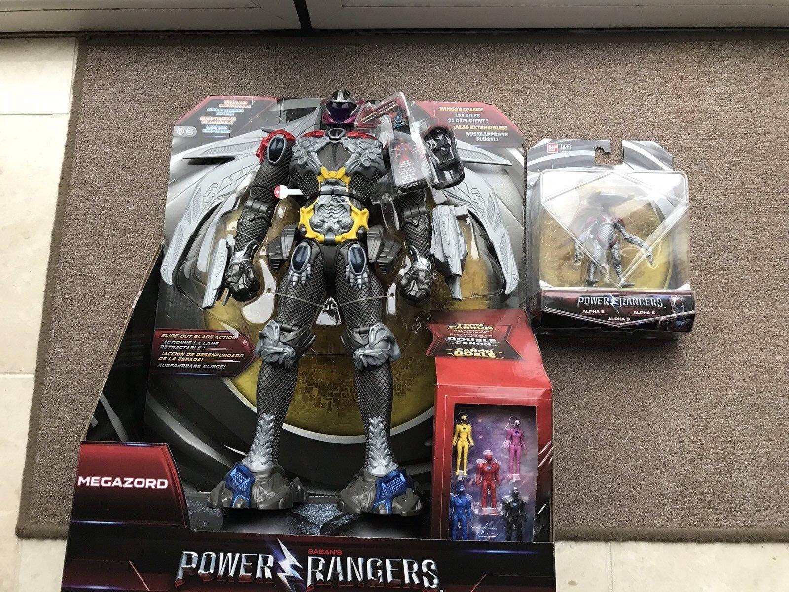 Brand New Power Rangers Megazord & Alpha 5 Figure