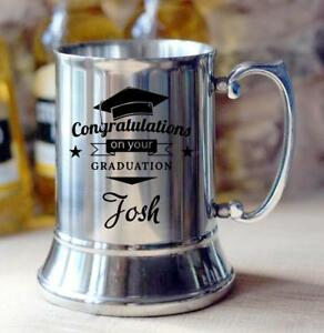 Engraved-Personalised-GRADUATION-Steel-Beer-Tankard-Gift-X57500-4