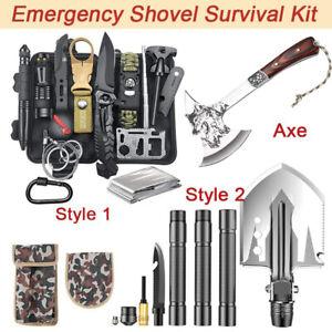 Camping Axe Hatchet Shovel Survival Gear Kit Tactical Hunting EDC Emergency Tool