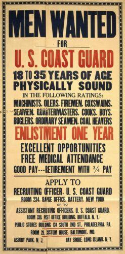 WWI Poster Uomo ricercato per Guardia Costiera degli Stati Uniti