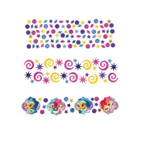 Shimmer /& Shine 3 Pack Confetti 34g Childrens Birthday Party Table Sprinkles