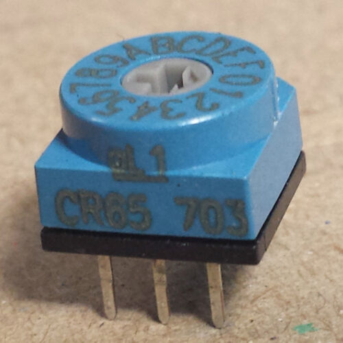 NEW APEM SWITCH R//A Part CR65703 R6S5.5B1 HEX 16 POS ROTARY