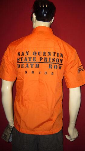 San Quentin Chemise Orange State Prison Brake Death Row M L Xl 2xl 3xl Chemise d/'été