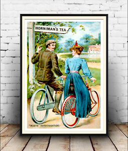 Vintage advertising poster reproduction. Hornimans Tea