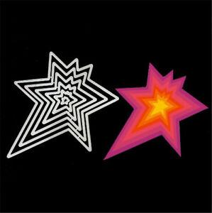Stanzschablone-Stern-Weihnachten-Neujahr-Hochzeit-Oster-Geburtstag-Karte-Album