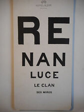 PLAN MEDIA + CD SINGLE ▓ RENAN LUCE : LE CLAN DES MIROS (LA FILLE DE LA BANDE)