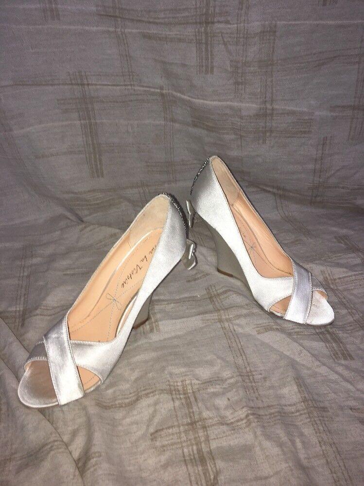 Pour La Victoire Cordelia Ivoire Satin, chaussures femmes, Taille 6 m
