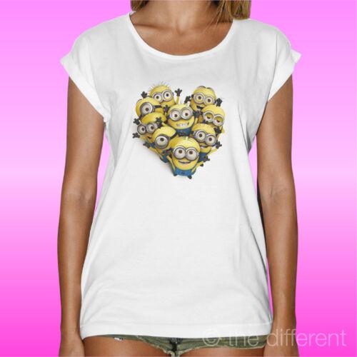 "T-Shirt /"" Minions Herz Cattivissimo Me /"" Geschenkidee Road bis Glück"