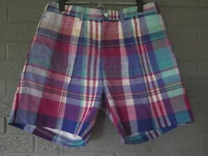 9965d552fa197 Image is loading NEW-GANT-MADRAS-CHINO-SHORTS-AUTHENTIC-INDIAN-MADRAS-