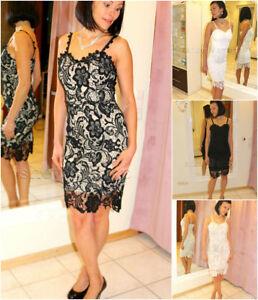 Spitze Kurz Kleid Abendkleid Mini X S M L XL XXL ...