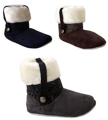 Para mujeres Damas Chicas Botín De Piel Forrada de Invierno Cálido refrigeradores Tobillo Zapatillas Zapatos UK
