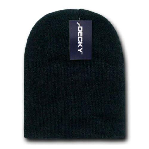 1 Dozen Decky Short Knitted Beanies Skull Ski Caps Hats Wholesale Lot