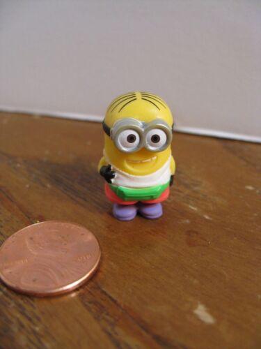 "Collectible 1/"" Figurine Micro Figures Minion Tourist Dave Despicable Me 3"