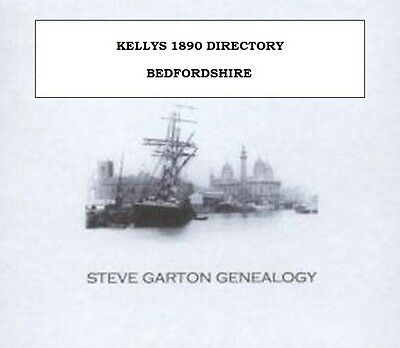KELLYS 1890 DIRECTORY OF BEDFORDSHIRE