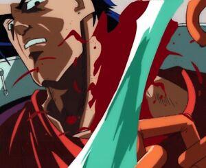 Jojo-039-s-Bizarre-Adventure-Anime-Cel-Douga-Animation-Art-Jotaro-Bloody-1993