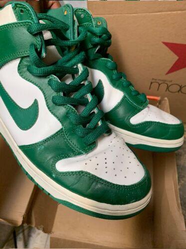 2002 Nike Dunk Celtic Hi Size 9 Pine Green/ White