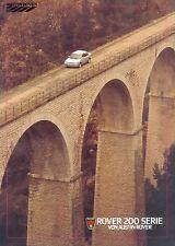 Rover 200 Serie Prospekt 10 85 car brochure 1985 Auto PKWs Autoprospekt England
