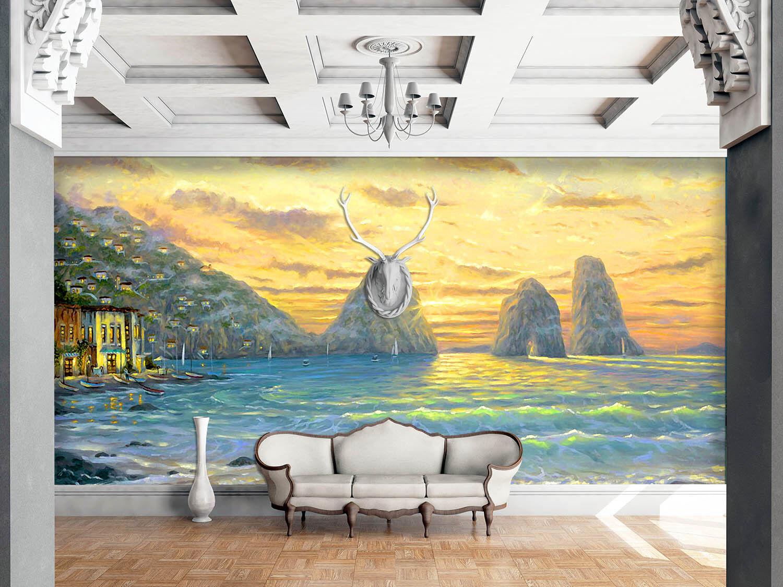 Papel Pintado Mural De Vellón Hermosa Mar Atardecer 21 Paisaje Fondo De PanGröße
