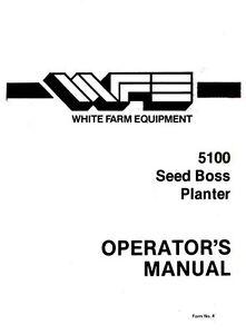 White 5100 corn planter parts manual | buza. Me.