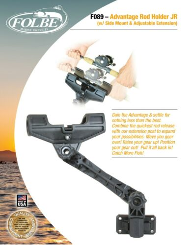 Folbe JR Fishing Rod Holder w// Side Mount /& Adjustable Extender  F089