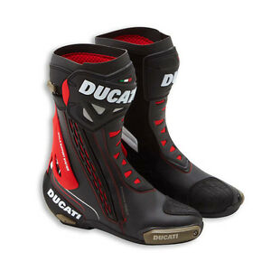 Ducati Corse 3 Motorcycle Street Track Race Boots Black Red by TCX