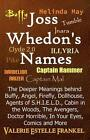 Joss Whedon's Names: The Deeper Meanings Behind Buffy, Angel, Firefly, Dollhouse, Agents of S.H.I.E.L.D., Cabin in the Woods, the Avengers, Doctor Horrible, in Your Eyes, Comics and More by Valerie Estelle Frankel (Paperback / softback, 2014)
