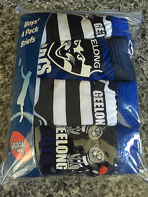 BNIP Boys Sz 3-4 Pack of 4 AFL Collingwood 100/% Cotton Classic Briefs Underpants