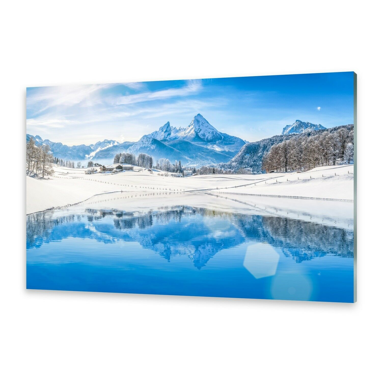 Acrylglasbilder Wandbild aus Plexiglas® Bild Winter Alpen