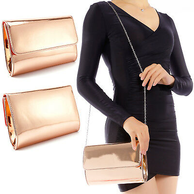 Clutch Bolso de Noche Diseño Metálico para Mujer Fiesta Prom para Mujer Chica
