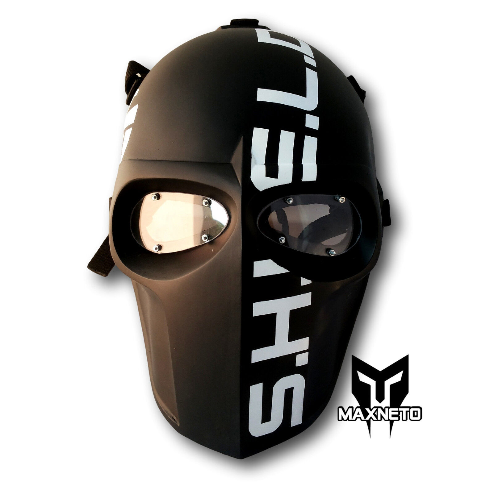 Maxneto Paintball Airsoft Army of Two Soporte Inferior pistola projoeger Full Face Mask S.H.I.E.L.D