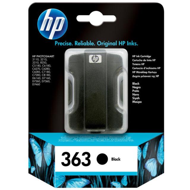 HP NO.363 originale Tintenpatrone schwarz für 410 Seiten C8721EE NEU