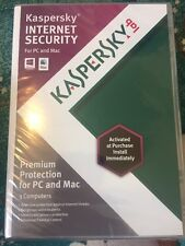 Kaspersky Internet Security For Mac 3 Computers Protection 2013 New & Sealed