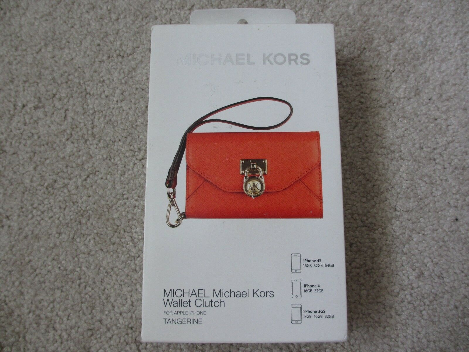 Michael Kors MK Tangerine Wallet Clutch Wristlet for iPhone 3gs 4 4s for sale online | eBay