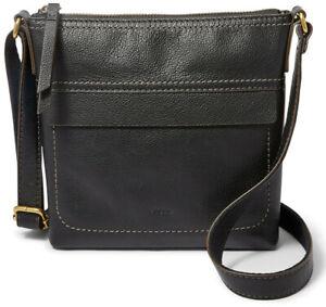 NWT-Fossil-Aida-Small-Crossbody-Black-Leather-Handbag-SHB2969001-108-Retail