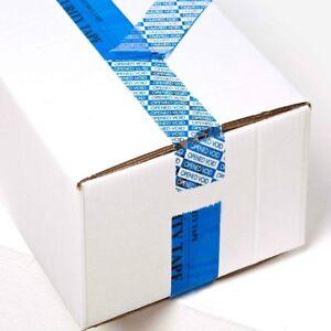 Nastro adesivo antimanomissione antirimozione blu tamper tape 5cm x 50 Metri