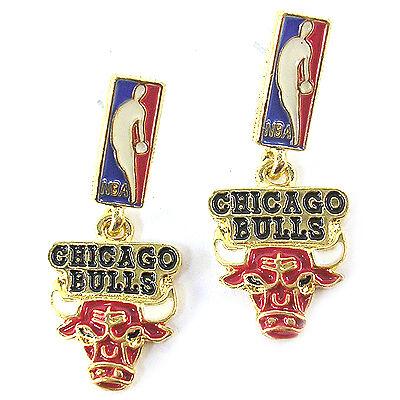 NBA Earrings Chicago Bulls Gold Jewelry