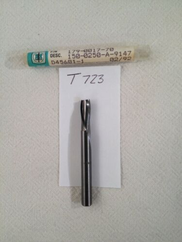 """1//4/"""" DIAMETER CARBIDE WOOD ROUTER METAL REMOVAL 1 NEW 2 FL DOWN CUT USA -T723"""