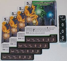 4 X LANTERN BATTERY RECHARGE 86/142 War Of Light Dice Masters DC