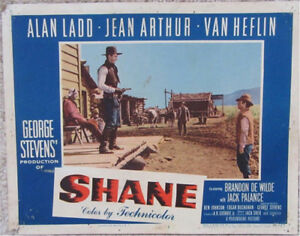 Details about SHANE ORIGINAL VINTAGE LOBBY CARD MOVIE POSTER
