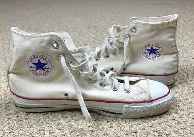 VINTAGE 80's Made in USA Converse All Star Chuck Taylor Hi Tops 10.5 White </p>                     </div>   <!--bof Product URL --> <!--eof Product URL --> <!--bof Quantity Discounts table --> <!--eof Quantity Discounts table --> </div>                        </dd> <dt class=