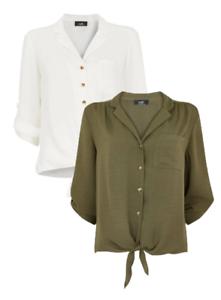 Wallis Ladies Ruffle Lined V-neck Blouse White Sizes 8-18 RRP £30