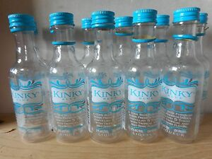 Eleven 50ml Mini Kinky Blue Empty Vodka Bottles With Turquoise