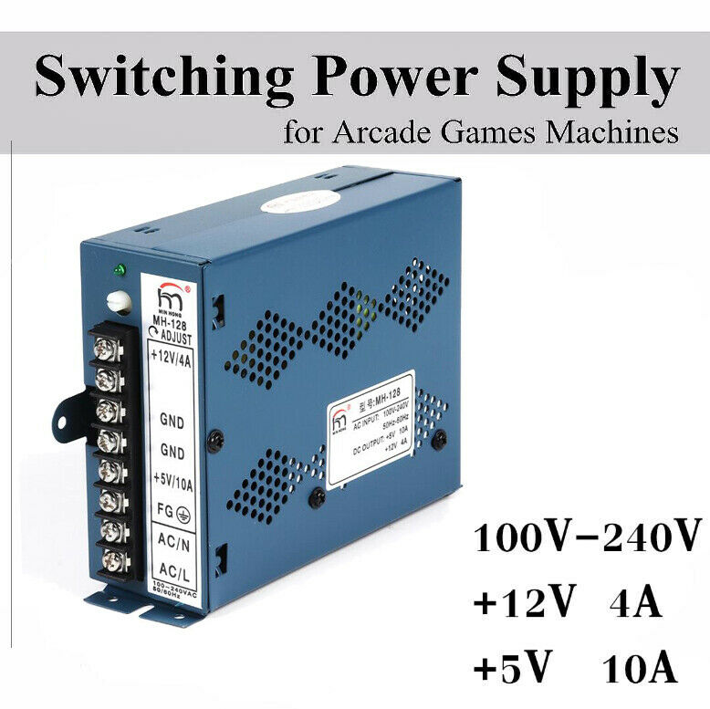 100/240V Arcade Switching Power Supply Video Games Cabinets Multicade 8 Liner