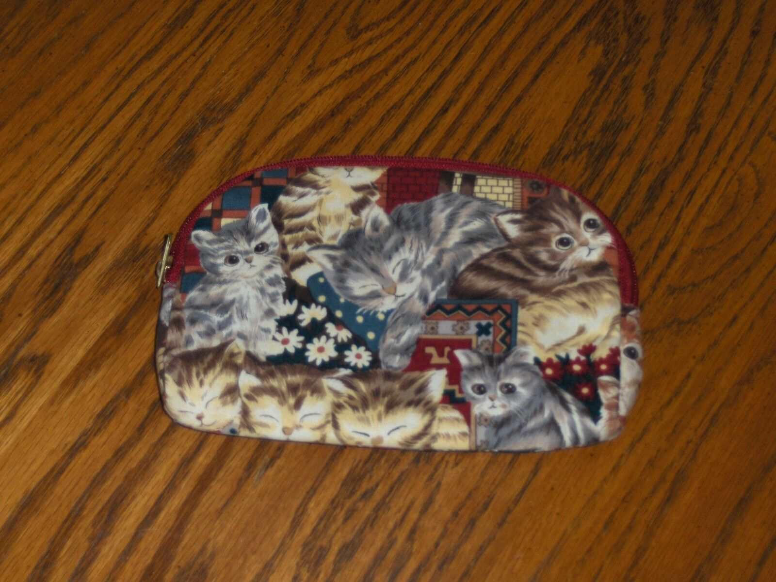 Ted Lapidus Cat Cosmetic Bag Paris Clutch Handbag Purse
