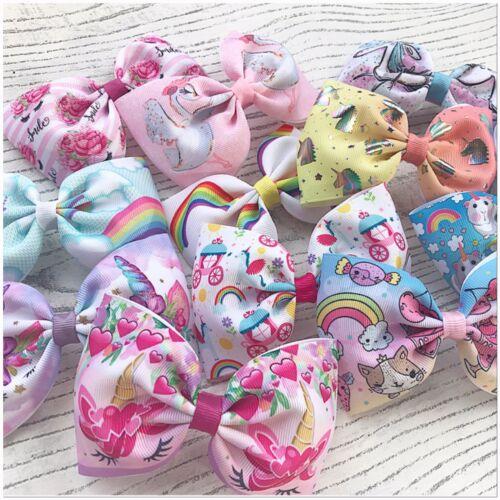 Set Of 3 Large Bows Lucky Dip Hair Bows Girls Hair Clips Unicorn Princess Bows