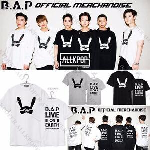Kpop-B-A-P-T-shirt-BAP-vivre-sur-terre-matoki-Tee-Unisexe-T-shirt-Yong-Guk-Coton